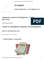 Japanese Lessons for Beginners – Dates and Time – Japanese Journey Lessons