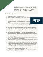The Phantom Tollbooth Chapter Summary