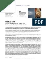 Gagosian Thomas Ruff Nudes Press Release