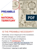 Preamble & National Territory