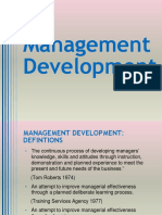 Seminar on Management Development