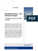 Broadband Policy – the German example. A competition game with NGA (Detecon Executive Briefing)