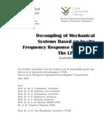 PhD_Laurent_Keersmaekers - Decoupling of Mechanical Systems Based on in-situ Frequency Response Functions the LPD Method
