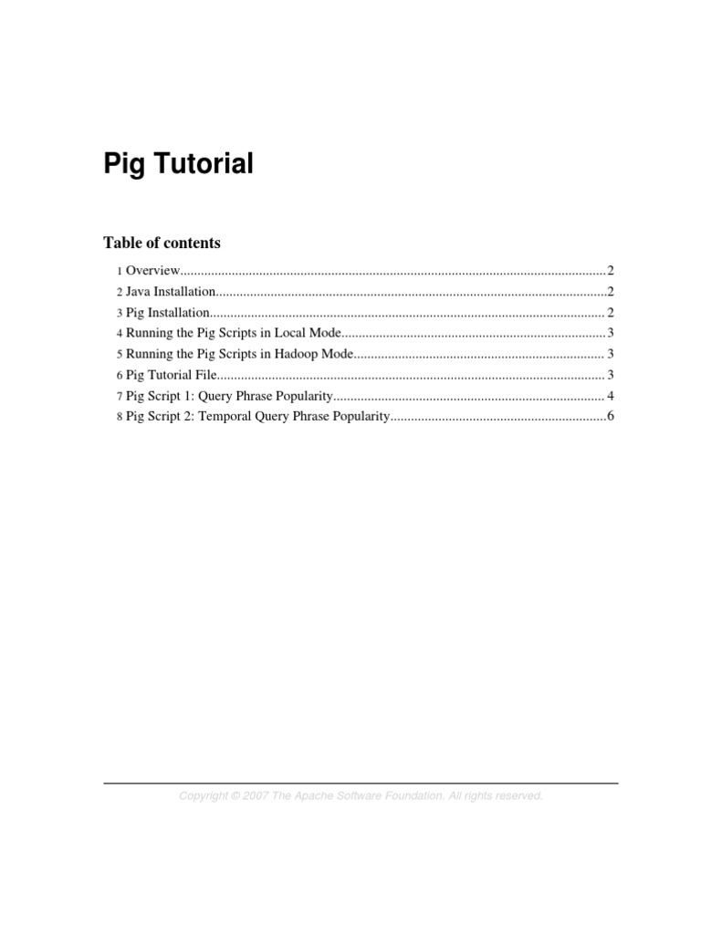 pig tutorial   apache hadoop   operating system technology