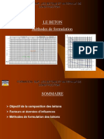 Le Béton - Méthodes de Formulation