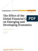 The Effect of the Global Financial Crisis and on Emerging and Developing Economies