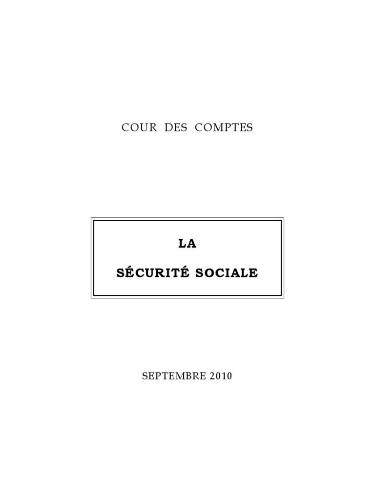 Rapport Securite Sociale 2010 Septembre 2010 81c9a23ed112