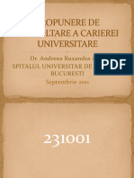 Propunere de Dezvoltare a Carierei Universitare