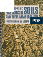 Engineering Properties of Soils and Their Measurement by Joseph H. Bowles  [Third Edition]
