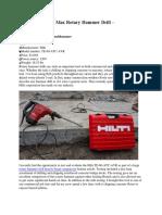 Hilti 1-9-16″ SDS Max Rotary Hammer Drill