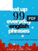 Eat Up 99 Everyday English Phrases in Less Than a Week