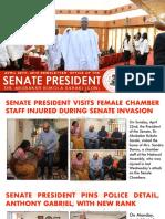 NEWSLETTER. OFFICE OF THE SENATE PRESIDENT, DR. ABUBAKAR BUKOLA SARAKI. APRIL 28TH 2018.