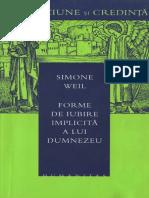 Simone Weil - Forme de Iubire Implicita a Lui Dumnezeu