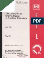Ehlen(1990) Granite Landforms Annotated Bibliography