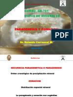 3. Paragenesis y Zonacion