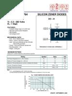 1N4728 - 1N4764 - Z1110 - Z1200 ZENER DIODES