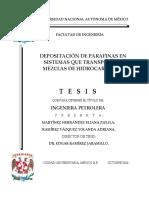Depositación de Parafinas en Sistemas Que Transportan Mezclas de Hidrocarburos, Eliana ‐‐Martínez 2010