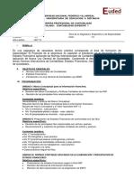 Syllabus VI Contabilidad Superior I