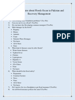 Assignment Flood Questionnaire by Rizwan & Farhan
