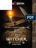Old Dragon O Mundo de the Witcher Fichas Exclusivas