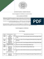 Bando Per l' Ammissione Anni Successivi Al Primo 2017-2018 Lauree Ingegneria e Scienze