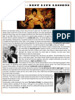 Bruce Lee Best Life Lessons Reading Past Simple Ws Reading Comprehension Exercises 101263
