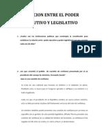 Relacion Entre El Poder Ejecutivo y Legislativo