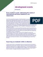 Academic Development Events