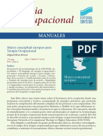2018 Catálogo Terapia Ocupacional