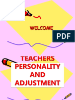 Teachers Personality and Adjustment