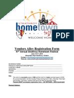 Strathroy Hometown Festival - Vendor Reg Form 2018