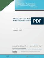 Administración de La Educación La Plata 2015