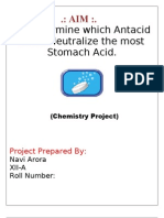 22846726 Chemistry Project on Study of Antacids for Class 12 CBSE