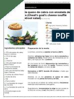 Hoja de impresión de Soufflé cónsul de queso de cabra con ensalada de remolacha asada (Cheat's goat's cheese soufflé with roasted beetroot salad).pdf