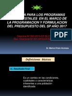 1. Pp - Directiva Programas Presupuestales 2017