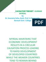 'Gunner Myrdal's Theory Ug II Ss 1