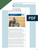 Comandante Da Aeronáutica- 'Democracia e Integridade Das Instituições Serão Testadas Hoje' - Poder Aéreo - Forças Aéreas e Indústria Aeronáutica