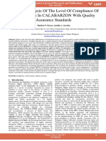 A Critical Analysis of the Level of Compliance of Selected Heis in Calabarzon With Quality Assurance Standards