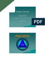 Project Controls by Steve Kunishige 14Jan10