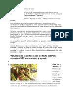 Perú Se Vuelve Gran Exportador de Frutas