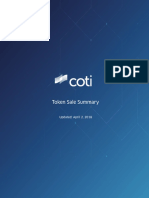COTI Token Sale Summary