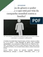 Ideologia de Gênero e o Poder Financeiro