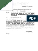 Oficio Modelo de Dosaje Etilico