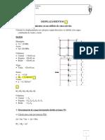 Desplazamientos en Cada Piso (Según Dirección X-x) Debido a Las Cargas Combinadas de Viento y Sismo