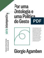 AGAMBEN, Giorgio. 2018. Por Uma Ontologia e Uma Política Do Gesto
