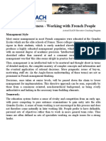 ActionCOACH Cultural Awareness – Working With French People