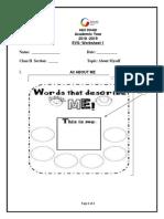 EVS Worksheet1 About Myself_8049