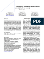 Challenges and Approaches of Performing Canonical Action Research in Software Security