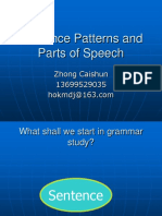 Lecture 2 Sentence Patterns and Parts of Speech.ppt