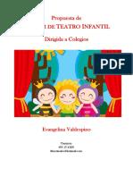 Propuesta Taller DeTeatro Infantil Evangelina Valdespino